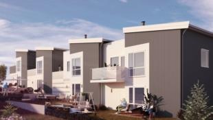 Klepp |  4 flotte rekkehus med takterrasse
