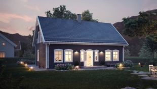 Klassisk hus med svært gode planløsninger prosjektert på Draget.