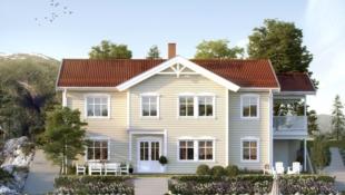 Prosjektert enebolig med utleieleilighet på Lindås med flott utsikt og båtplass