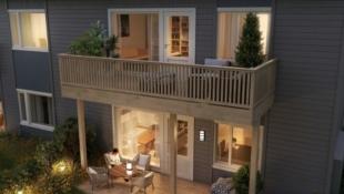 Kisamoen - Nordkisa // Kun 1 igjen! Nye, moderne 3-roms leiligheter på 72 kvm. med terrasser / balkonger og carporter. Nær skole, butikk og bussholdeplass.