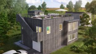 Borgen Panorama // Lekker og moderne bolig over 2 plan // takterrasse // integrert garasje // 3 sov // 2 bad