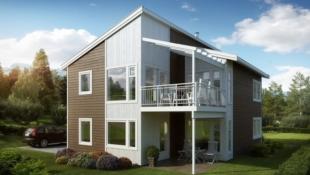 Ny moderne enebolig prosjektert på Draget i Kristiansund