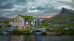 Ny hyttemodell fra Boligpartner, plassert i RørOs Fjellby Hummelfjell, rett ved skiløypa og alpinbakken - 15 min fra Røros.
