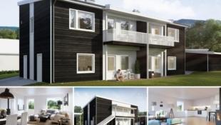 Solgård - Smarte leiligheter med åpen stue- og kjøkkenløsning. Carport. Sportsbod. Nær Raufoss sentrum.