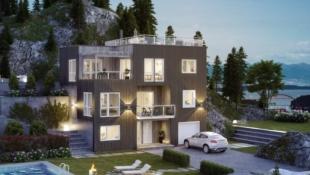 Innholdsrik enebolig med god plass til storfamilien er prosjektert i Lyngstadveien med flott utsikt og solrik beliggenhet.