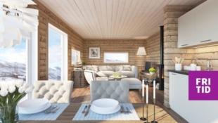 Birkenhytta Raudfjellet - Nøkkelferdig hytte på Sjusjøen, 3 sov. Skiløyper rett utenfor hytteveggen!