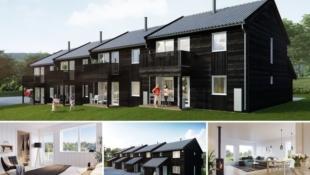 Visning 6/6! Jaren - Lettstelte og moderne rekkehus på 123 kvm over to plan. Walk-in-closet, 3-4 soverom og 2 bad. Gode buss- og togforbindelser. 1 time fra Oslo.