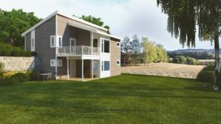 Flott design og smarte løsninger, på solrik tomt i Rønnerudmarka