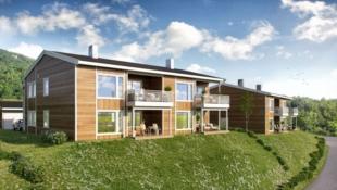 Nye moderne leiligheter med 2 eller 3 sov og meget gode solforhold. 1 Solgt