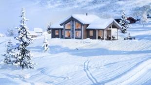 Nøkkelferdig familiehytte med utsikt på solrik tomt i Ølsjølia - Lenningen. 3 sov + hems. Flotte ski- og fotturområder i Synnfjellet.