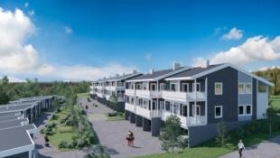 SOLÅSEN - Søre Ål, Lillehammer - seksmannsbolig. Prisgunstige leiligheter. Lang solgang og fantastisk utsikt! 2/3 sov, ett plan, carport og sportsbod.