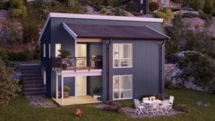 Prosjektert moderne enebolig i nytt byggefelt i Alversund. Solrikt og barnevennlig.