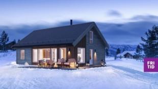 Nøkkelferdig familiehytte. Solrik, stor utsiktstomt på Gålå. 3 sov, stor hems på 39m2. Ski in/out langrenn og alpint!