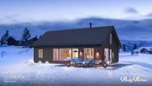 TORPOÅSEN - Sportshytte beliggende på en kolle, ved skiløyper, med gode solforhold og panoramautsikt til bla. Hallingskarvet/ Reineskarvet