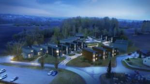 7 av 10 SOLGT! Nye eneboliger med store terrasser, 3 sov og carport, beliggende nær Hamar sentrum.