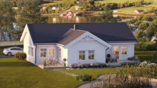 Romslig enebolig på ett plan med vannbåren varme, beliggende i barnevennlig og nytt boligområde i Elverum.